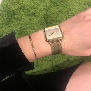 Michael Kors gold watch and bracelet bundle